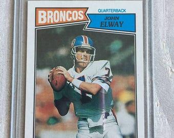 John Elway 1987 Topps Vintage Football Card - Denver Broncos, Stanford - Jersey, Shirt, , Broncos Gift, Boss, Boyfriend, Gifts for Men