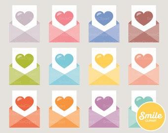 Heart Letter Clipart Illustration for Commercial Use   0018