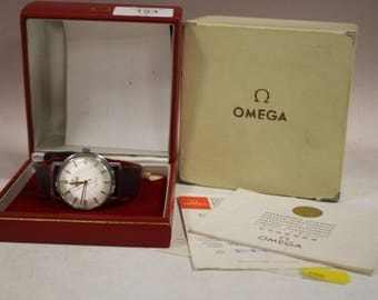 Gents Omega Seamaster De Ville wrist watch with box and papers circa 1960s