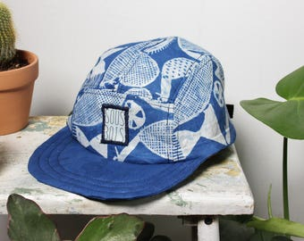 MOON IN PISCES - ColorClashCollection - 5 panels hat handmade and recycled