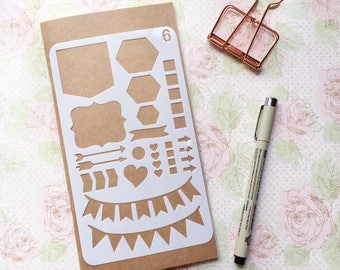 Bullet Journal Stencil #6 - Planner, Journal, Craft, Scrapbooking, Decoration