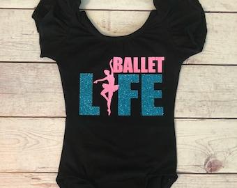 Ballet Monogram leotard - dance Leotard -  ballet leotard - toddler leotard - Child leotard - custom leotard  - girls leotard - ballet life