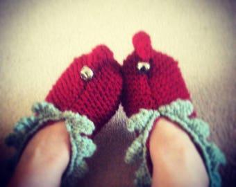 Christmas Elf slippers knit kit