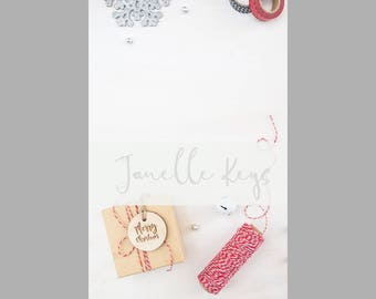 Styled Stock Photography / Vertical Christmas Stock Photo / Christmas Packaging / Digital Background / Blog Image / Social Media Image