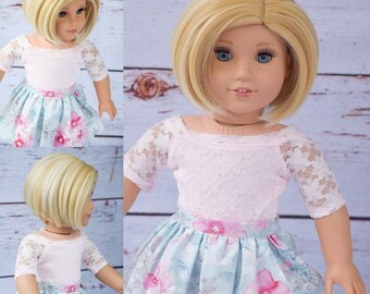 "Custom Doll Wig for 18"" American Girl Doll Heat Safe Tangle Resistant - fits 10-11.5"" head size of all 18"" dolls Gotz Our Generation Blonde"