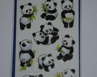 "three planks themes ""pandas"" stickers"