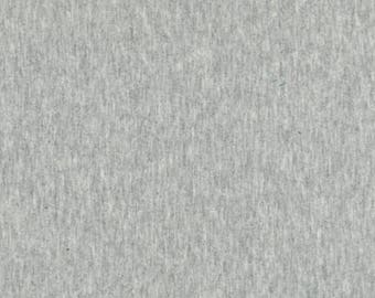 Heather Grey Gray Robert Kaufman Laguna Jersey Knit Gray Heather Cotton Spandex Cotton Lycra Stretch Jersey Solid Cotton Spandex Fabric