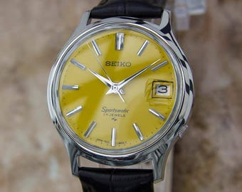 Seiko Sportsmatic 1960s Vintage Automatic Made in Japan Day Date Watch Y117