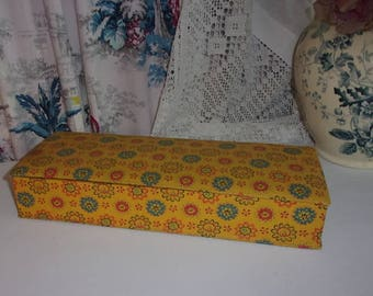 """A box """"Provence"""" fabric covered French"""