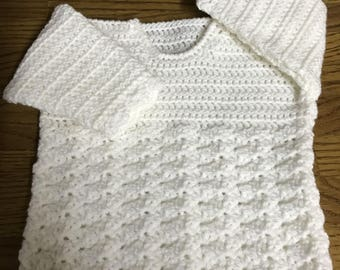 PDF Instant Download Juliet Baby Crochet Sweater Pattern in DK. Sizes Birth to 6 Years. (1024)