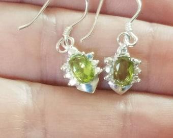 Peridot Sterling Silver Earrings
