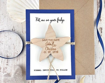Starfish Save The Date Magnet Beach Dates