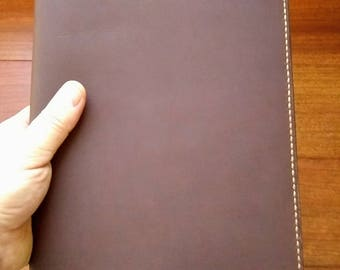 """Leather Moleskine X-Large Journal Cover, X-Large Notebook Cover, Leather Journal Cover, Leather Notebook Cover 7.5"""" x 9.75"""" Dark Brown"""