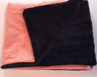 Coral Faux Fur Crib/Toddler Blanket