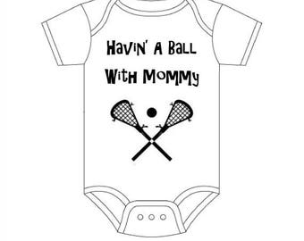 Lacrosse Baby - Sports Baby Clothes - Lacrosse Infant - Personalized Baby Clothes - Lacrosse Baby Clothes-Custom Baby Clothes-Havin' A Ball