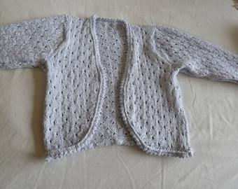 hand knitted Baby girl's bolero
