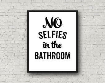 No Selfies Sign Etsy