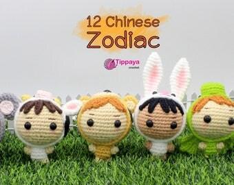 Crochet pattern of Chinese Zodiac series 1