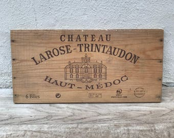Wine Wood Crate Box Panel Antique Vintage French wall sign 17021814