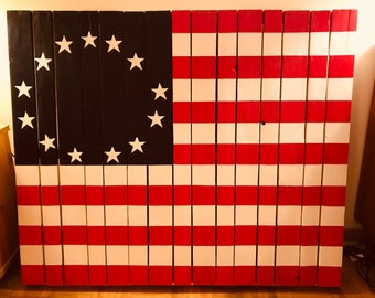 Wood Pallet American Flag, Wood Pallet Table Top, Wood Pallet, American Flag Painted Wood, Shabby Chic Wood Flag