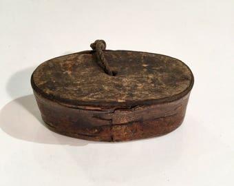 Norwegian Birchbark Snuff Box, Ca: 1920s.