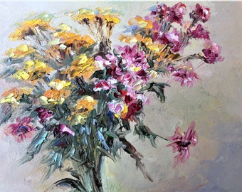 Flower Bouquet-Oil Painting-Original Art