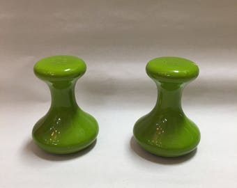 Holiday Designs USA Salt and Pepper Shakers (funky shape, green)