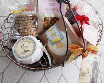 Father's Day Gift Basket ~ Gourmet Food Gift Basket ~ Gift for Dad ~ Shortbread Cookies ~ Jam Gift Basket ~ Fudge ~ Granola