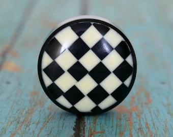 Resin Chessboard Cabinet Knob