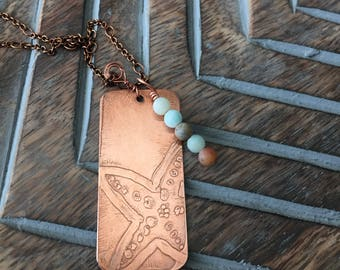 Etched Starfish on Copper