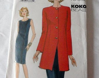 Vogue Very Easy Sewing Pattern 7469•Koko Beall•Misses Jacket & Dress•Semi Fitted Bodice•Mid Knee•Business Attire•Sizes 18 20 22•New•Uncut