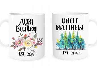 Aunt Uncle Mug, Pregnancy Reveal to Aunt, Pregnancy Reveal to Uncle, Aunt Gift, Uncle Gift, Pregnancy Announcement, Personalized Coffee Mug