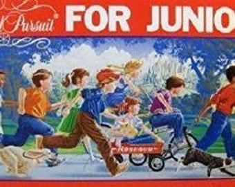 Vintage Trivial Pursuit for Junior Jr 1987 Board Game COMPLETE