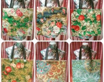 Handmade vintage hippy/festi tote shoulder bag vintage materials