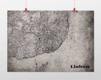 Lisbon din A4/DIN A3-print-old-school