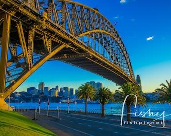 Sydney Harbour Bridge at Dawn Digital Download, Professionally shot limited edition image. Sydney Harbour, Sydney Australia, Harbour Bridge