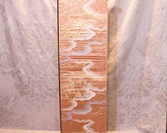 Japanese landscape painted obi