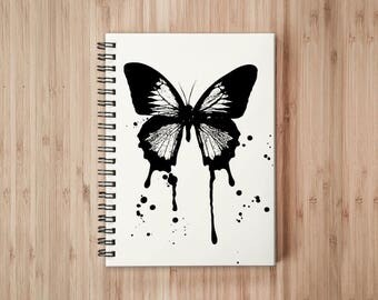 Butterfly Notebook/Sketchbook Wire Bound - Blank pages