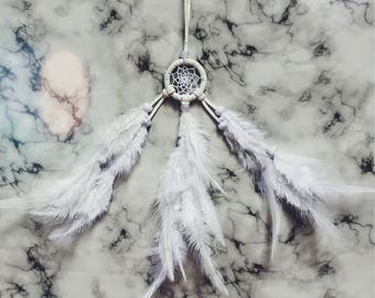 Small dream catcher // White with magic dust