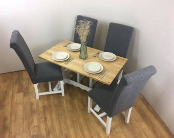 Up-cycled Wooden Dining Table and 4 Chairs