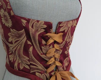 Silk and Brocade Renaissance / Medieval Corset Vest Size M and XL