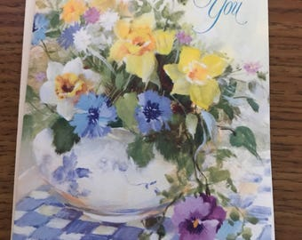 Vintage Thank You Card - Free Shipping in U.S.