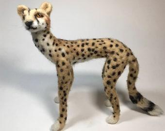Cheetah - Posable Needle-Felted