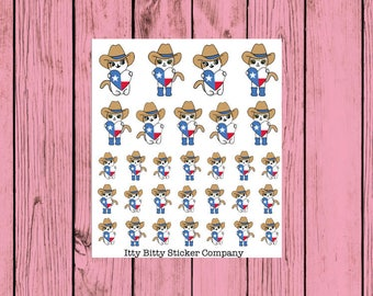 Mauly loves Texas - Hand Drawn IttyBitty Kitty Collection - Hand Drawn Planner Stickers