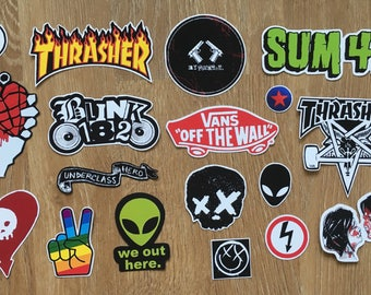 18 pop punk / music stickers - tumblr/grunge style