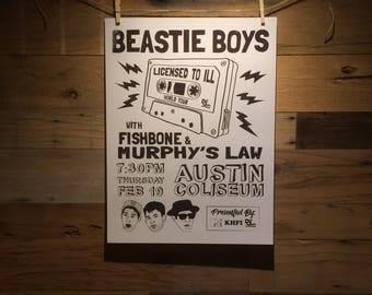 18x24 Beastie Boys Concert Poster Concept