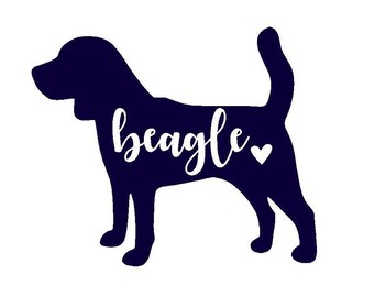 Beagle Vinyl Decal | Dog Decal | Pet | Personalized Decal | Yeti Cup | Laptop Sticker | Car Decal | Window Sticker |