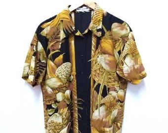 Hot Sale!!! Rare Vintage 90s CHRISTIAN AUJARD PARIS Button Down Shirt Luxury Hip Hop Swag Medium Size