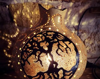 Gourd Lamp, Table Lights, Turkish Lights, Bohemian Decor, Boho Home Decor, French Country, Eclectic Furniture, Contemporary Decoration