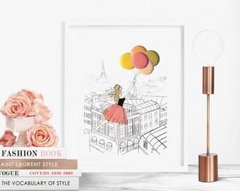 "La Vie Est Belle - 8""x10"" - Various Sizes - Wall Art - Gifts For Her - Parisian -Home Decor -Celebration -Congratulations - Macarons - Rose"